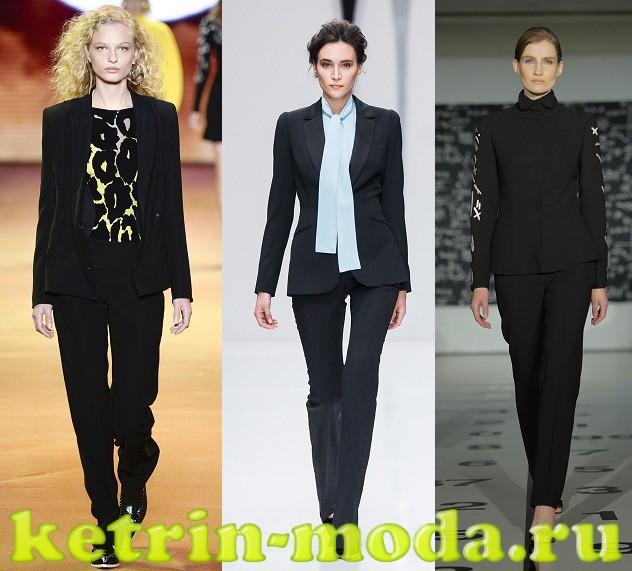fefb97608187 Μαύρο κοστούμι παντελόνι. Πώς να φορέσετε ένα λευκό παντελόνι.