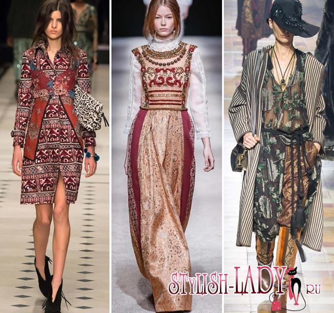 459aa6231c7 Nejvýraznější byly marocké a mongolské motivy. Lidové oblečení se objevilo  v podobě midi šatů přes vybledlé kalhoty