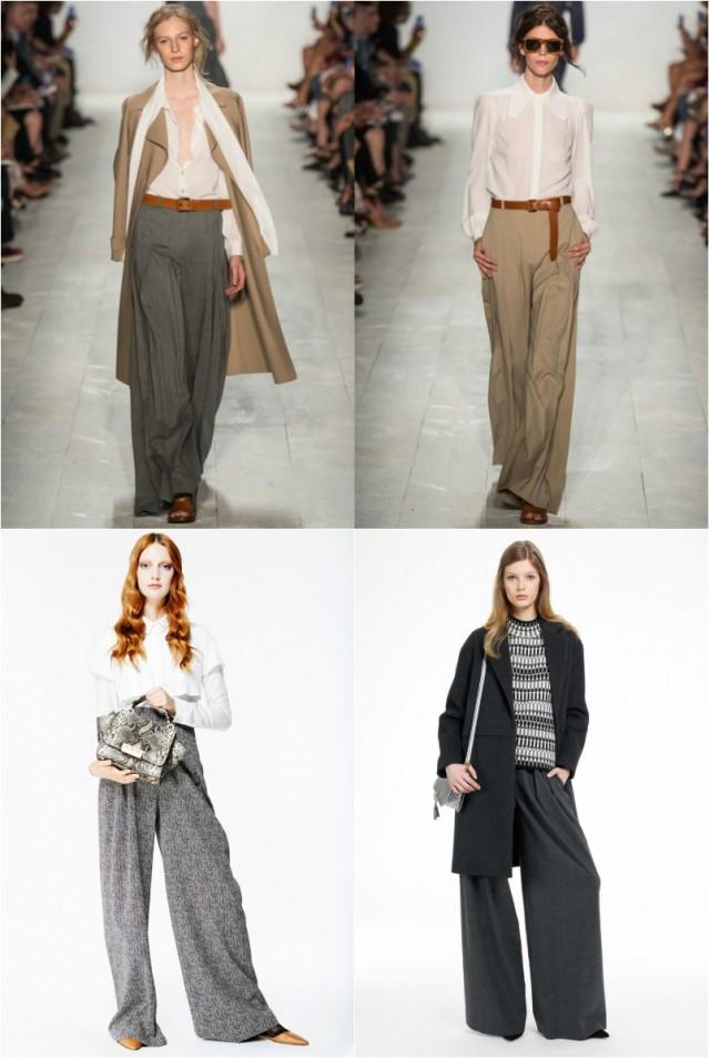 a9c558cf66 Často návrháři půjčují podrobnosti o stylu člověka. Široké kalhoty YangLi  jsou velmi podobné pánským. Také široká kalhoty na nádvoří módních žen   Tatyana ...
