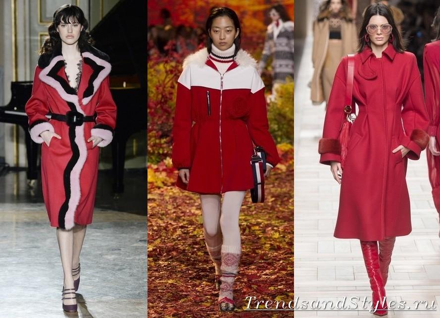 4c9b49d982 A piros szín az ilyen árnyalatokban divatos. mint skarlát, tégla, mahagóni  színe. Egy ilyen kabát tökéletesen illeszkedik egy gazdag őszi palettába,  ...