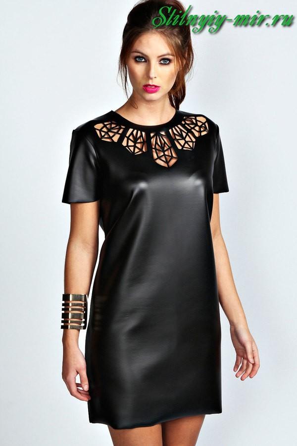 Μην βγείτε από τη φόρμα μόδας κλασική σιλουέτα. Αυτό ισχύει για δερμάτινα  φορέματα. Και τώρα θα ... 8e7e4fcb5cf