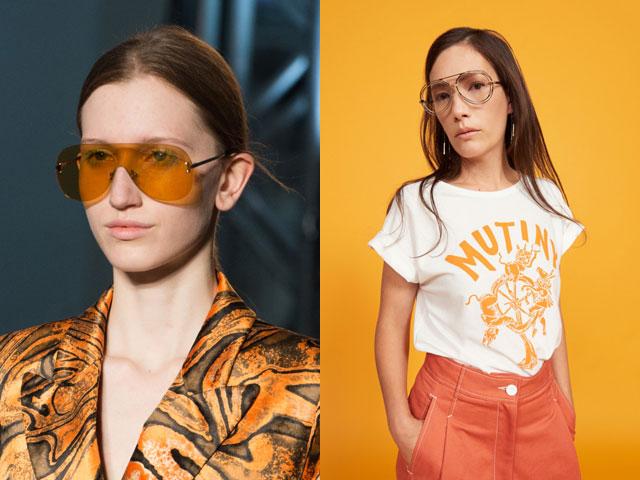 f75b7f5f7 من المألوف أن يكون كل من العدسات الملونة والظلام ، وشفافة. على مدارج الأزياء،  وشوهدت الطيارين النظارات في مجموعات: شانيل، إميليو بوتشي، جيريمي سكوت،  كارين ...