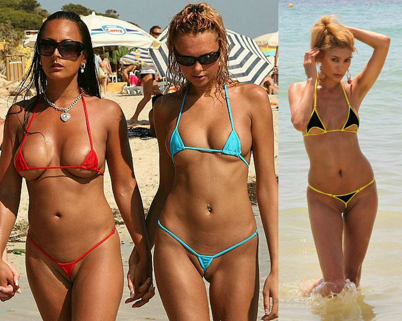 Супер мини бикини на пляжах