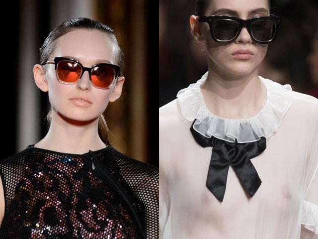 Ένα από τα νέα τάσεις της μόδας είναι γυαλιά ηλίου. Τα τεράστια γυαλιά που  κρύβουν το μεγαλύτερο μέρος του προσώπου έγιναν ιδιαίτερα δημοφιλή το 2017. ad092071dc2