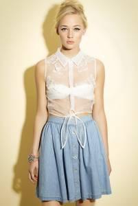 07ddf68ad41f С каким бельем носить белую прозрачную блузку. Прозрачная блузка: с ...