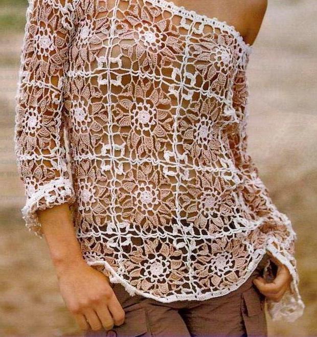 9c524676cf98 Παιδικό πουλόβερ με μοτίβα βελονάκι. Πλεκτά μπλούζα  πώς να δέσετε ...