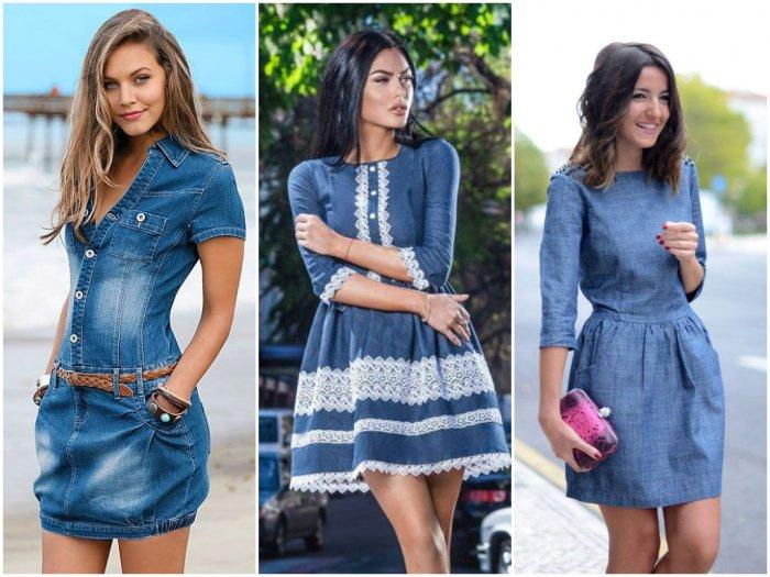 a6b41101fe2 Изящность кружев и ручная вышивка с цветами способны превратить джинсовые  платья и сарафаны в подлинные дизайнерские шедевры. Фото-примеры