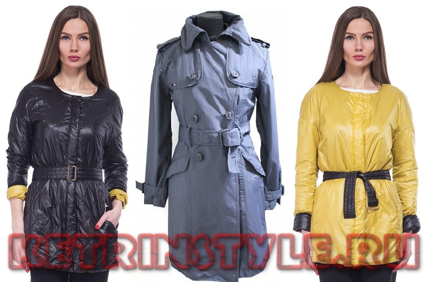Kvinnors fashionabla regnrock. Kläder av mocka. Klockor i stil med ... 36c8e12c21739