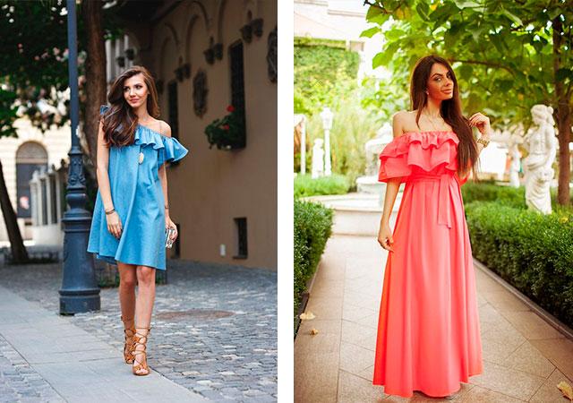 84b5a87b361 Платье с рюшами на плечах сшить самой. Идеи для полных женщин. как ...