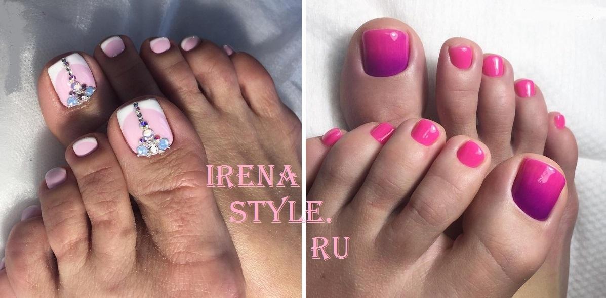 Розовый педикюр 2017 модные