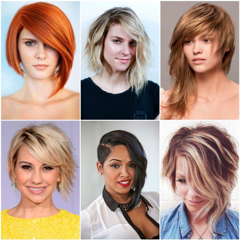 Модные прически 2017 женские на короткие волосы для полного лица