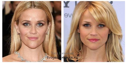 Teljesen sikertelen első fotó Reese Witherspoon frizura ami nagyban nyit  egy hatalmas homlok e5b1931d64