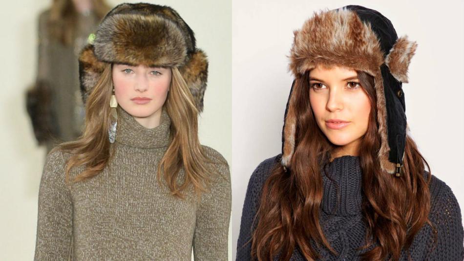 A kalap-fülhallgató ismét divatos. A természetes prém tökéletesen díszíti a  képet. e18862d450