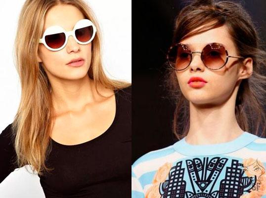 23082f87b النظارات الشمسية مع النظارات المستديرة المصممة للفتيات مع وجوه مستطيلة.  ينبغي التخلي عن الفتيات السمين من هذا الاتجاه.