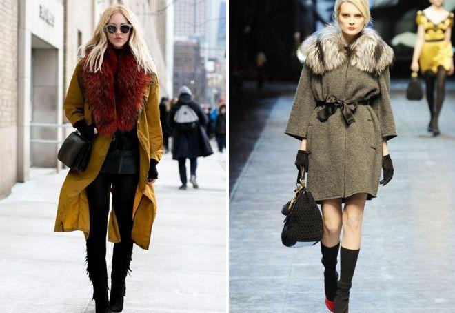 Női könnyű kabát. Divatos kabát egy ketrecben. Köpeny szőrme gallérral 75ca2207a4