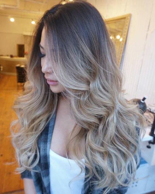 Амбре окрашивание волос пепельный цвет
