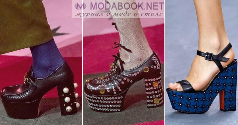 431e1d819ccd Takové módní boty jaro-léto 2017 mnohem pohodlnější než paty. Platforma vám  umožní jít ven celý den bez velkého nepohodlí pro nohy.