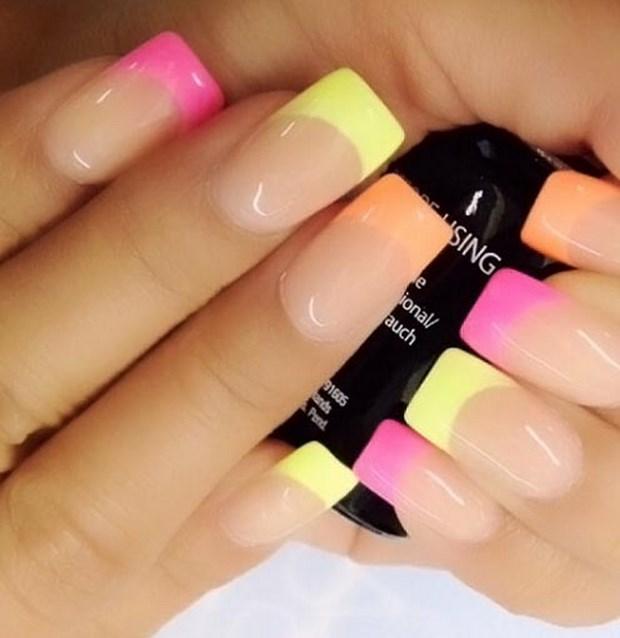 дизайн нарощенные ногти френч фото 2016