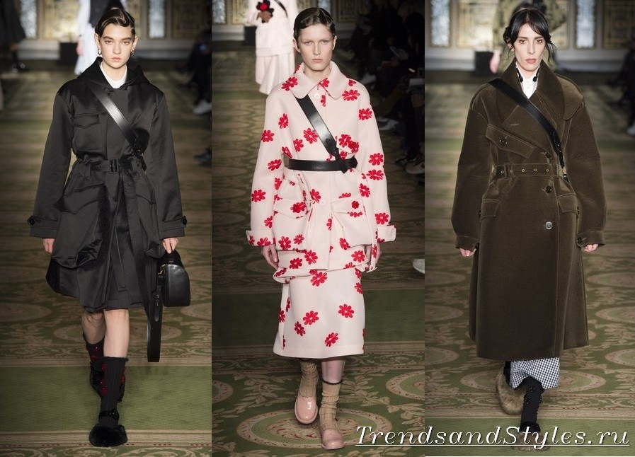 500d13a0a6 Simone Rocha, őszi-téli 2017-2018. Oversayz. A túlsúlyos stílus is gazdag  érdekes lehetőségeket női kabát ...