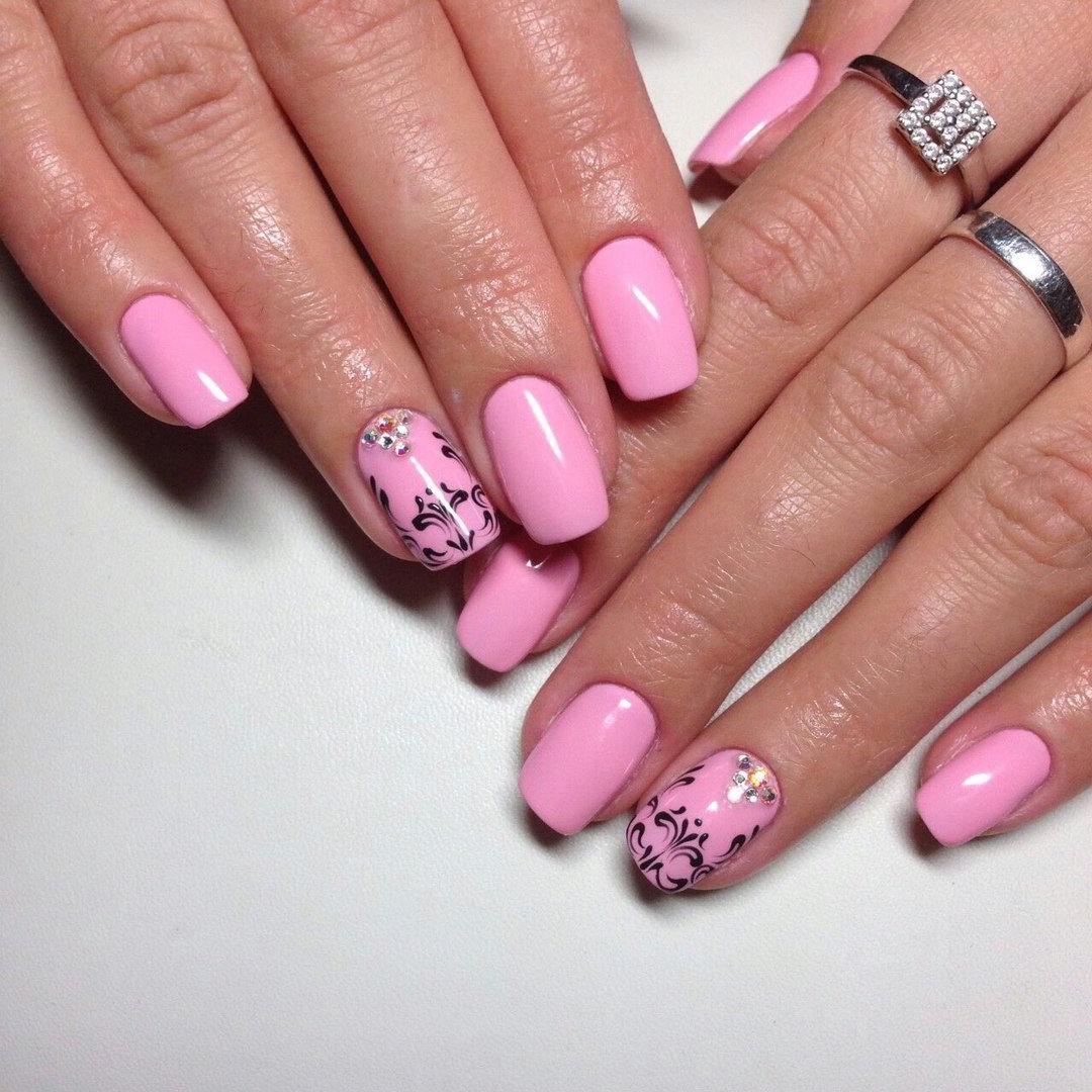 Розовый гель-лак - 160 фото идей и новинок по дизайну
