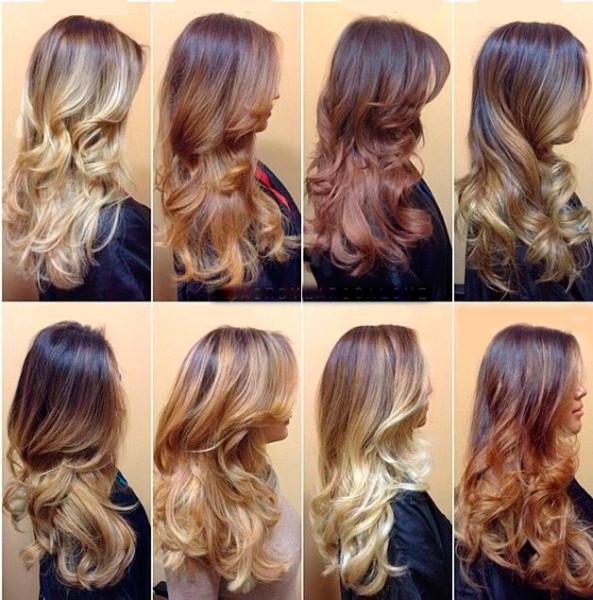 Виды окрашивания длинных волос