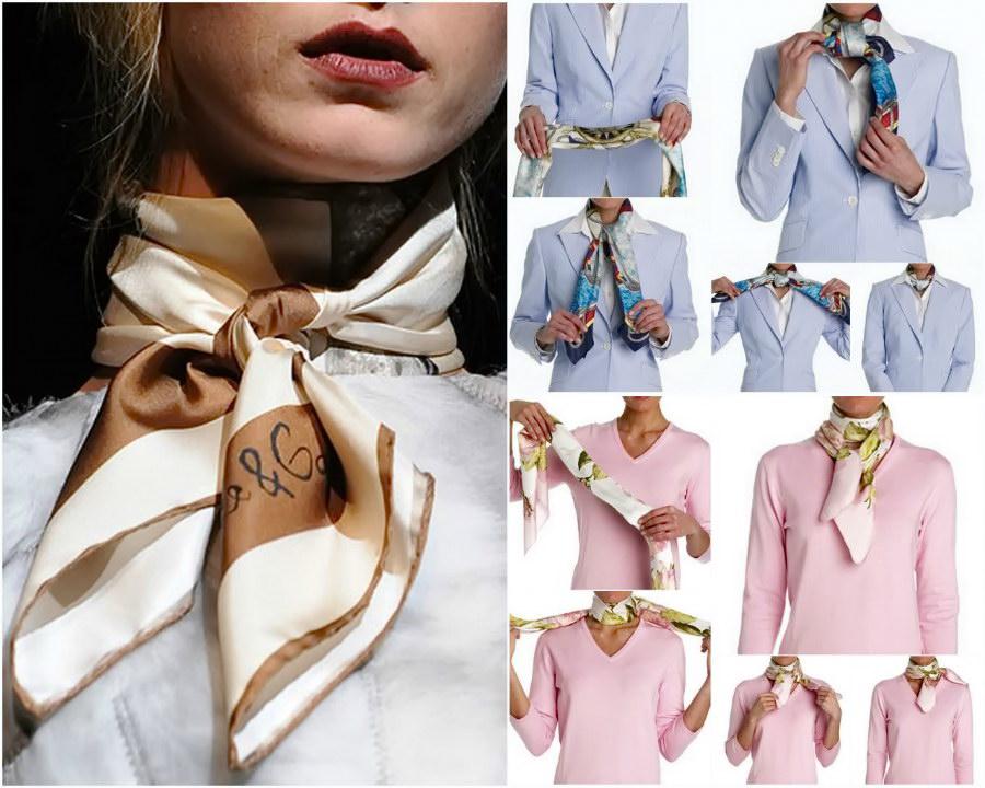 7fc49664b64 Jak krásné je spojit šátek a šátek kolem krku různými způsoby ...