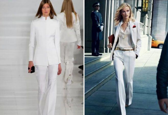Φθηνά κοστούμια παντελονιού για κορίτσια. Πώς να φορέσετε ένα λευκό ... fef122613c5