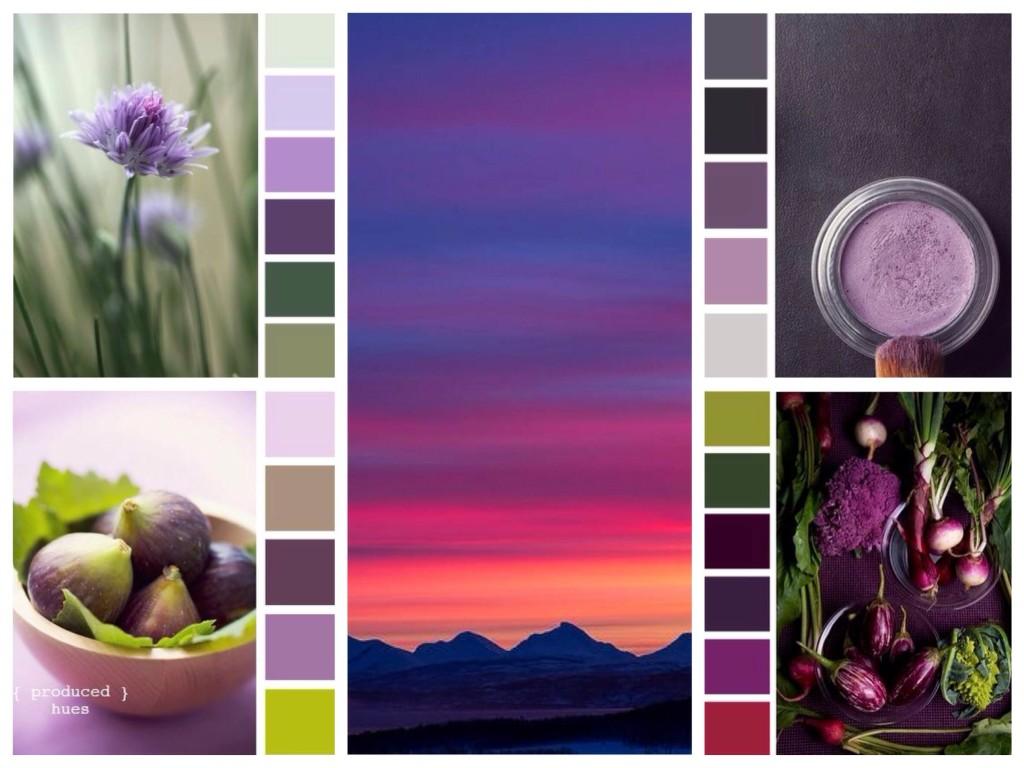 Серо-фиолетовый цвет сочетание