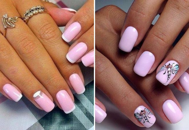 Красивый маникюр нежно розового цвета