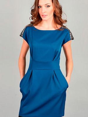 Модные платья синего цвета рекомендации