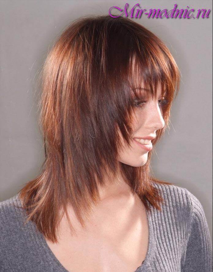 274Стрижки на средние филированные волосы