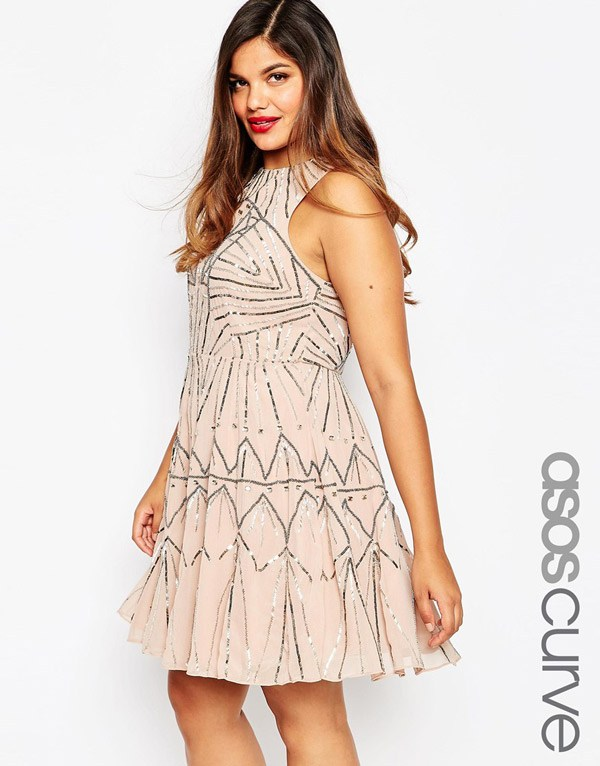Krátké šaty - Plus velikost Sundress 2016 - ASOS CURVE 8c0825383a
